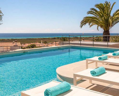 Private pool Villa Del Sol Son Bou