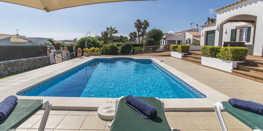 Private pool, Villa Bini Tuduri Binibeca