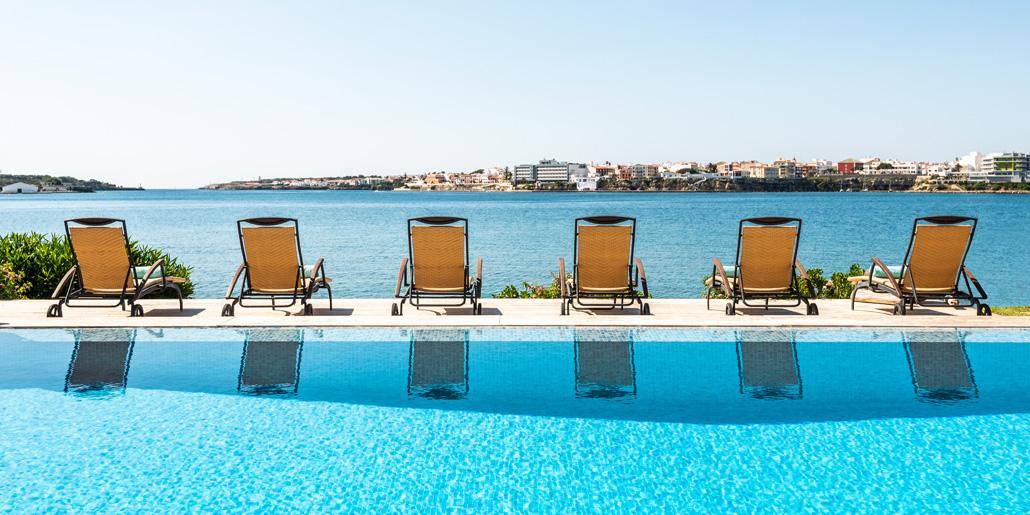 Pool terrace, Far Post, Cala Llonga