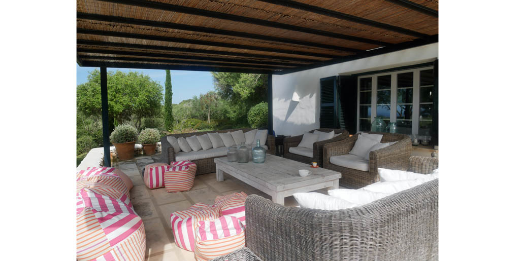 Covered terrace, Santa Ana, Sant Lluis