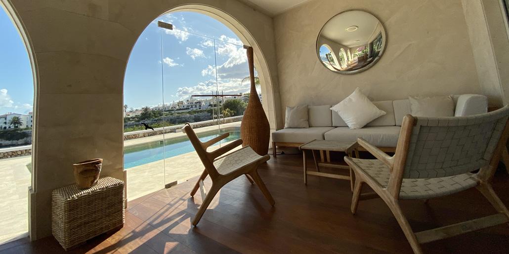 Covered terrace, Villa Santana Es Castell